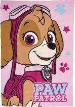 Paw Patrol fleece deken - roze - Skye plaid