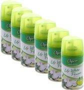 6x 250 ml Charm lily white luchtverfrisser navulling