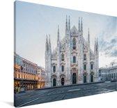 De Kathedraal van Milaan in Italië Canvas 120x80 cm - Foto print op Canvas schilderij (Wanddecoratie woonkamer / slaapkamer)
