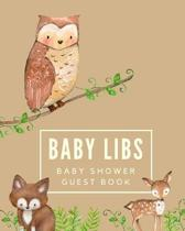 Baby Libs Baby Shower Guest Book