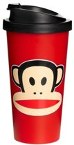 Paul Frank Drinkbeker - To Go - Incl Deksel - 500 ml - Rood