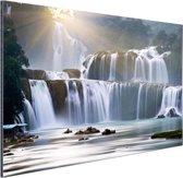 Ban Gioc waterval Aluminium 120x80 cm - Foto print op Aluminium (metaal wanddecoratie)