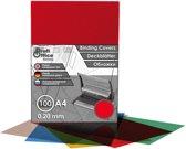 schutbladen ProfiOffice A4 200 micron 100 stuks transparant rood
