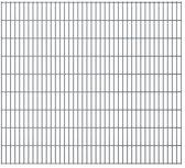 vidaXL Dubbelstaafmatten 2008 x 1830mm 46m Grijs 23 stuks
