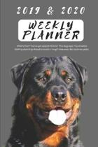 2019 & 2020 Weekly Planner What's That? You've Got Appointments? This Dog Says