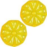 Luchtbed zwembad - opblaasbare citroen - geel - set van 2 stuks