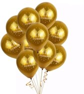 Eid Mubarak Deluxe Ballonnen Goud - 10 stuks - Ramadan Feestdecoratie Eid Decoratie Chrome Ballonnenset