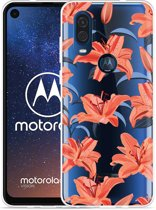 Motorola One Vision Hoesje Flowers