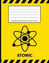 Atomic Warning Periodic Table Chemistry Composition Notebook