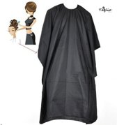 Taglio Black Salon Kapmantel - Waterproof Kappersmantel - Kappersschort Waterdicht - Zwart