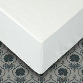 Senzatione katoen satijn Hoeslaken wit - 160x200+30