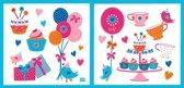 Lief! Roze Muurstickers voor in de Kinderslaapkamer – 31x30x1cm | Decoratie voor aan de Muur | Verwijderbaar en Herplaatsbare Wandplaatjes