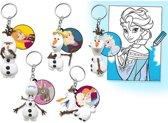 6 stuks Frozen blind bag Olaf sleutelhanger / uitdeelcadeautjes