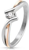 Ring Dames - Ringen Dames - Ringen Vrouwen - Zilverkleurig - Zilveren Kleur - Ring - Stijlvol met Unieke Twist - Twisted