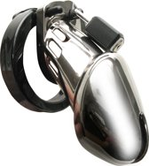 CBX 6000 Chastity Case Chrome Cockring - Zilver