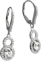 Diamonfire - Zilveren oorhangers Bridal - Zirkonia - Vintage