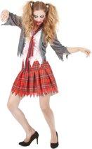 Zombie schoolmeisje kostuum voor vrouwen - Verkleedkleding - Maat One size