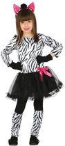 Dierenpak zebra verkleedjurkje voor meisjes - carnavalskleding/outfit zebra 10-12 jaar (140-152)