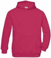 Fuchsia katoenmix sweater met capuchon voor meisjes 7-8 jaar (122/128)