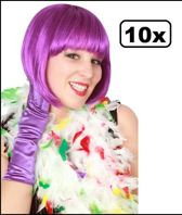 10x Boa brandveilig dik wit/rood/geel/groen 180cm/75gr