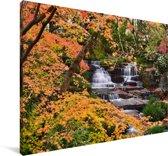 Herfstbladeren in Kobe in Japan Canvas 90x60 cm - Foto print op Canvas schilderij (Wanddecoratie woonkamer / slaapkamer) / Aziatische steden Canvas Schilderijen