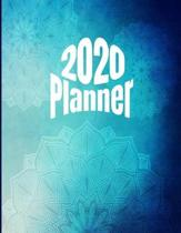 2020 Planner: Mandala Coloring Calendar Planner, Monthly Calendar Schedule Organizer with Coloring Pages, Notes, & Inspirational Quo