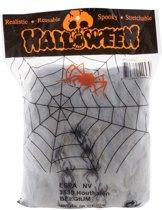 Halloween Mega spinnenweb met spinnen 392 gr