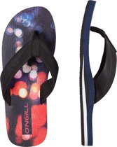O'Neill Slippers Fm imprint pattern - Blue Aop W/ Pink Or Purple - 40