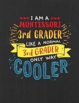 Montessori 3rd Grade Notebook - Black - 7.44 x 9.69 150 pages