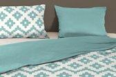 Good Morning Textile - dekbedovertrek - eenpersoons - 140x200/220 - Aqua