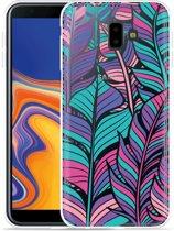 Galaxy J6 Plus Hoesje Design Feathers