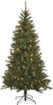 Black Box kunstkerstboom met verlichting -  120x72 cm groen - 195 zijtakken 80 lampjes