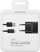 Samsung: Originele Samsung Galaxy travel charger - Originele Zwarte Micro USB Oplader 2 A met Kabel - geschikt voor Samsung Galaxy S4, S5 (mini), S6 (edge), Advance, N enz.