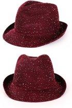 Saturday night fever glitter hoed rood