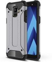 Armor Hybrid Hoesje Samsung Galaxy A6 (2018) - Grijs