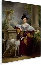 Portret van Alida Christina Assink - Schilderij van Jan Adam Kruseman Plexiglas 30x40 cm - klein - Foto print op Glas (Plexiglas wanddecoratie)
