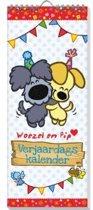 SET Woezel & Pip verjaardagskalender / 5x7,95
