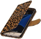 Luipaard booktype wallet cover hoesje voor Samsung Galaxy S Advance I9070