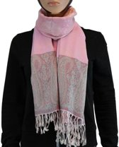Sjaal / Shawl / Omslagdoek 100% Pashmina Roze Multi Color