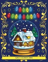 Girls Coloring Book (Merry Christmas)