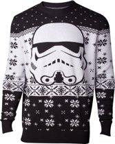 Difuzed Star Wars Kersttrui Stormtrooper Maat L - Wit