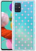 Samsung Galaxy A51 Hoesje Geometrisch Pink