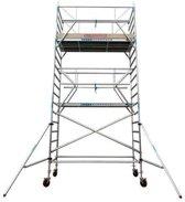Rolsteiger standaard 135x305 7,2m werkhoogte carbon vloer + dubbele voorloopleuning