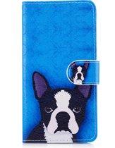 Hoesje geschikt voor Samsung Galaxy S8, 3-in-1 bookcase met print, hondje