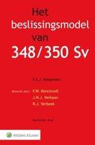 Boekomslag van 'Het beslissingsmodel van 348/350 Sv'