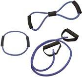 RS Sports - Tubing set l Expander l Weerstandsband - 3 stuks - medium - blauw