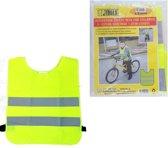 Fluorescerend Geel Reflecterend Wegenbouw Veiligheidsvest voor Kinderen - One size fits all | Fluorescerend | Veiligheids Vest | Kids Veiligheidshesje | Werkkleding | Hesje voor Klussen | Veiligheid | Pech | Fluor | Werkkleding en Bescherming | Kind
