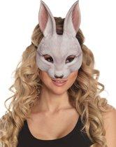 Konijn masker voor volwassenen - Verkleedmasker