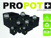 PROPOT 20L Fabric Pots met handvatten- 26 x 26 x 30 cm