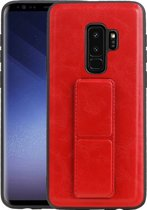Grip Stand Hardcase Backcover voor Samsung Galaxy S9 Plus Rood